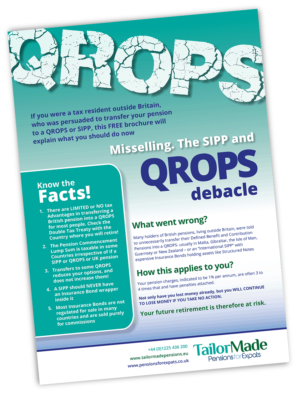 QROPS SIPPs Facts For Resident Expatriates In France Brochure